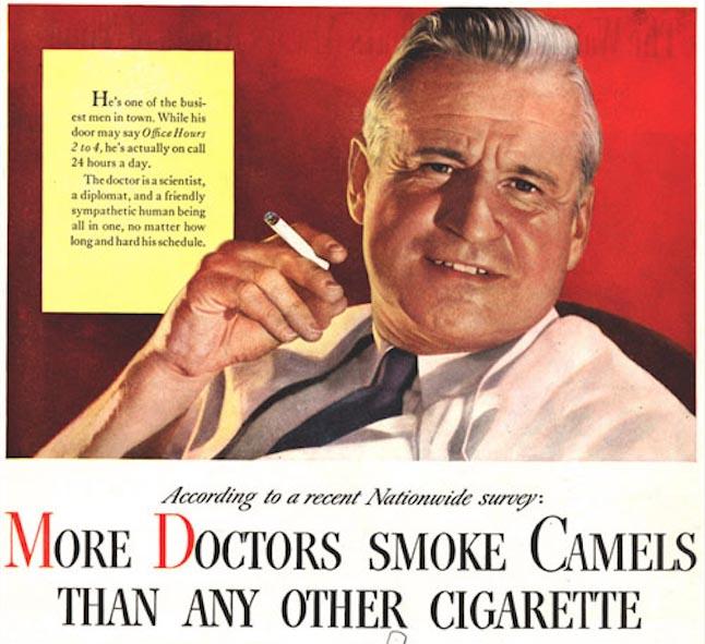 Ascenção e queda da propaganda tabagista 1
