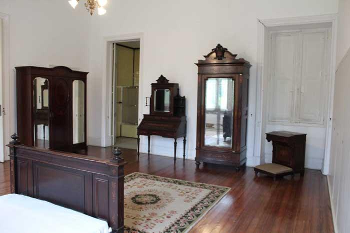 Interior dos aposentos usados por Getúlio Vargos