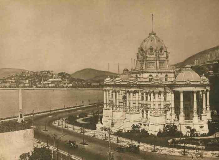 Vista do Palácio Monroe.