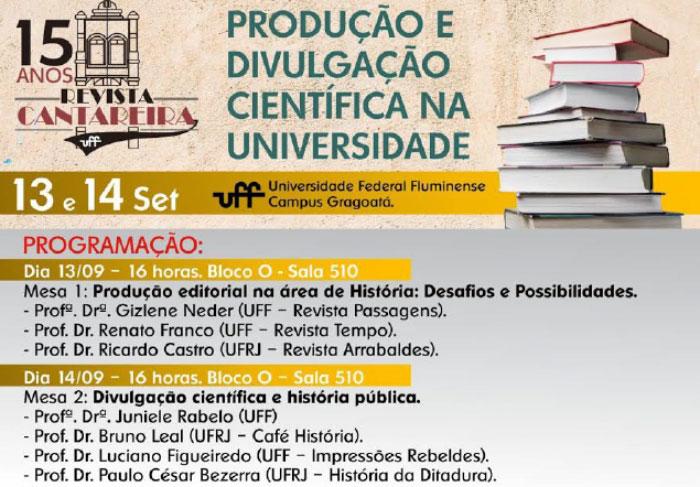 Divulgação Científica é tema de evento no curso de história da UFF 1