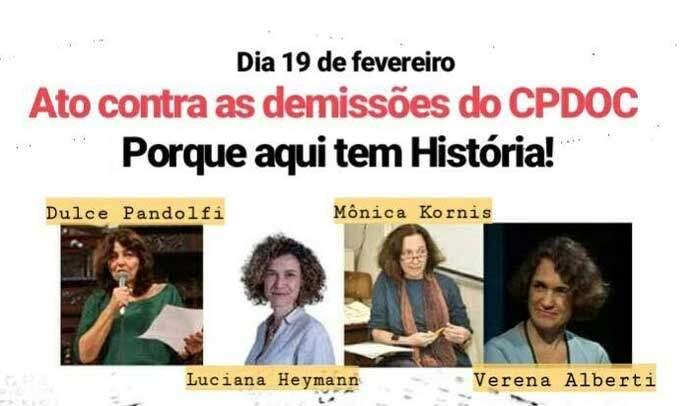 Ato público contra as demissões no CPDOC/FGV acontece na próxima segunda-feira no Rio 1