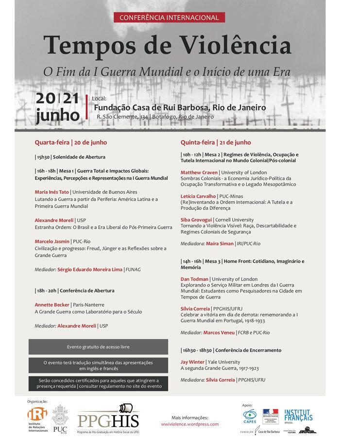 Rio de Janeiro recebe conferência internacional sobre Primeira Guerra Mundial 1