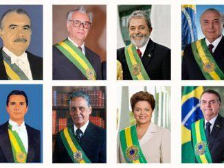 Todos os presidentes e presidenta da Nova República (1985-2019).