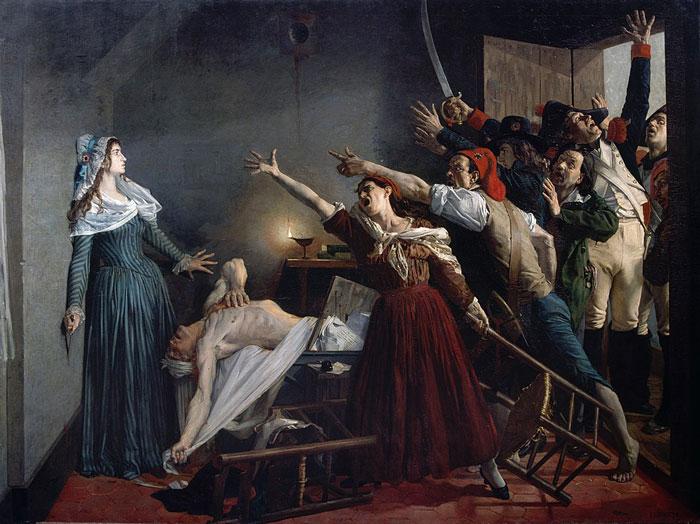 Assassinato de Marat - Revolução Francesa.