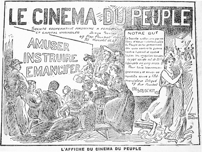 "Cartaz de divulgação do ""Cinema do Povo"". Fonte: acervo do autor."