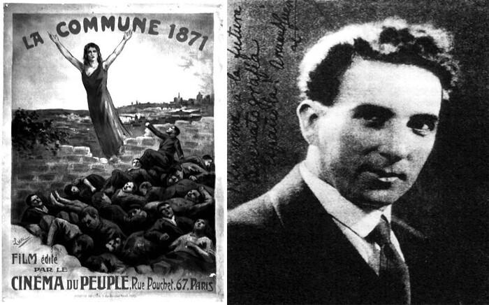 """Cartaz de divulgação do filme """"A Comuna de 1871"""", produzido pelo """"Cinema do Povo"""", e Armand Guerra, diretor. Fonte: acervo do autor."""