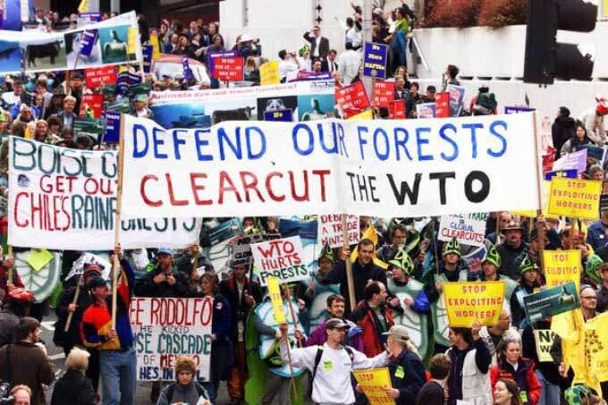 Grupos ambientalistas protestam em Seattle. Foto: reprodução da internet.