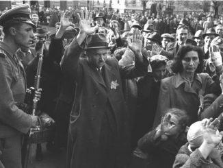 Judeus de Budapeste, na Hungary, Outubro de 1944. Fonte: Bundesarchiv