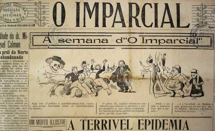A Gripe Espanhola na imprensa da Bahia.