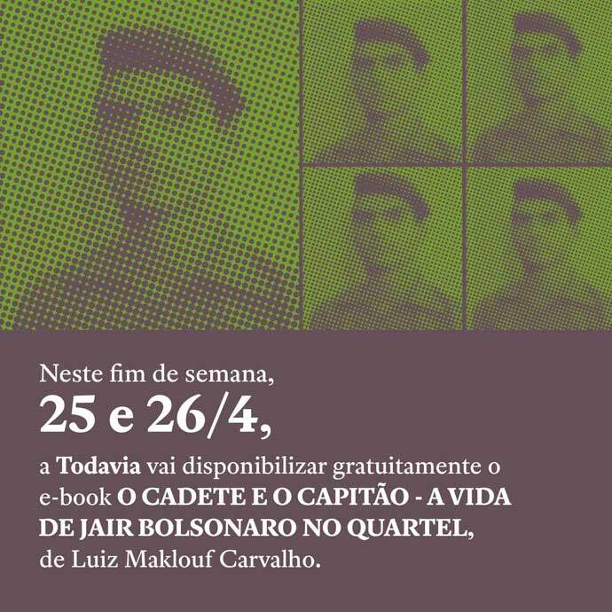 Livro sobre Bolsonaro quando ele ainda era capitão do exército.