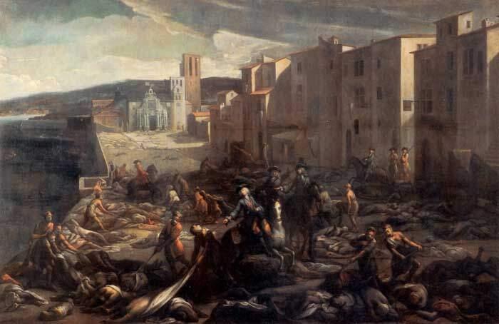 Cena da obra de 1720 à Tourette (Marselha) do pintor francês nascido na Catalunha, Michel Serre.
