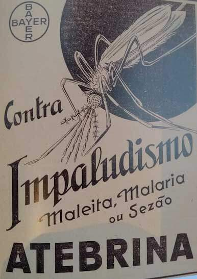 """Propaganda da Atebrina na revista """"A Gazeta da Pharmacia"""", em 1939."""