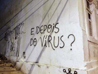 """Em uma parede na região metropolitana do Recife, a pergunta: """"e depois do vírus?"""""""