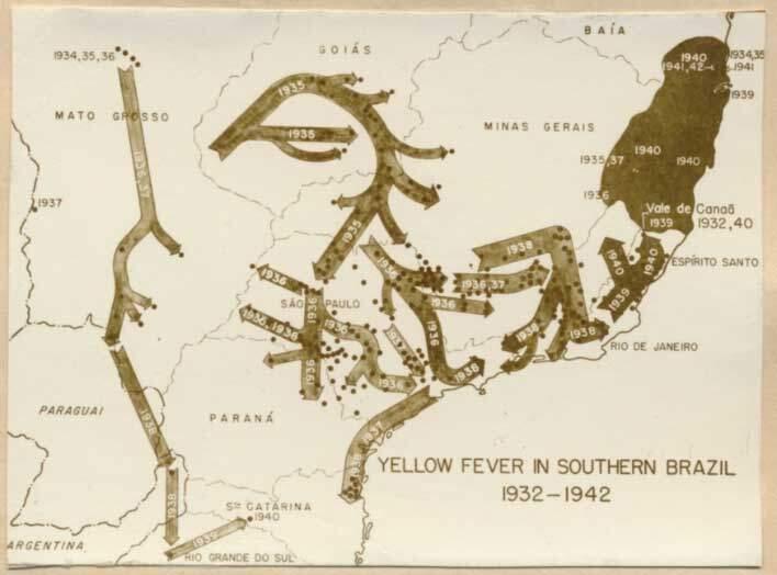 Mapa da Febre Amarela no Brasil