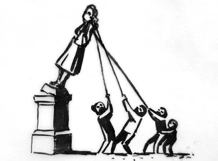 Desenho do artista Banksy retirado de conta oficial no Instagram - Instagram/@banksy