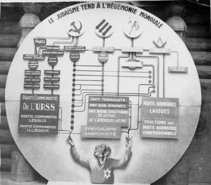 A Exposição antibolchevique denunciando uma conspiração judaico-maçônico-comunista internacional na França ocupada pela Alemanha nazista (1942).