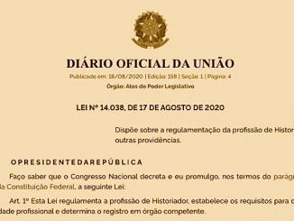 Derrotado, Bolsonaro promulga Lei que regulamenta a profissão de historiador 1