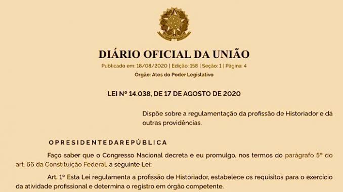 Derrotado, Bolsonaro promulga Lei que regulamenta a profissão de historiador 2