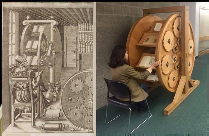 Eles construíram a roda de livros do século XVI 2