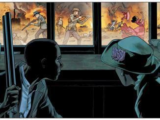 Ilustração da equipe de Watchmen publicada na revista The Atlantic.