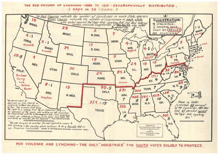 O Mapa Vermelho do Linchamento, 1889-1921