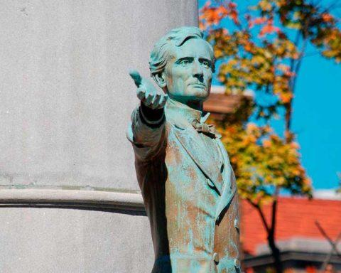 Monumento de Jefferson Davis Monument, Richmond, Virgínia. Foto: Wikipedia
