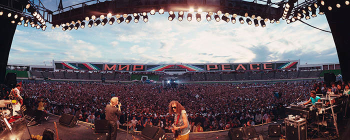 Show aconteceu em 1987 em estádio de Moscou. Foto: Skirball Cultural Center.