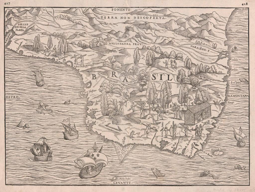 Conheça aquele que é considerado o primeiro mapa do Brasil 1